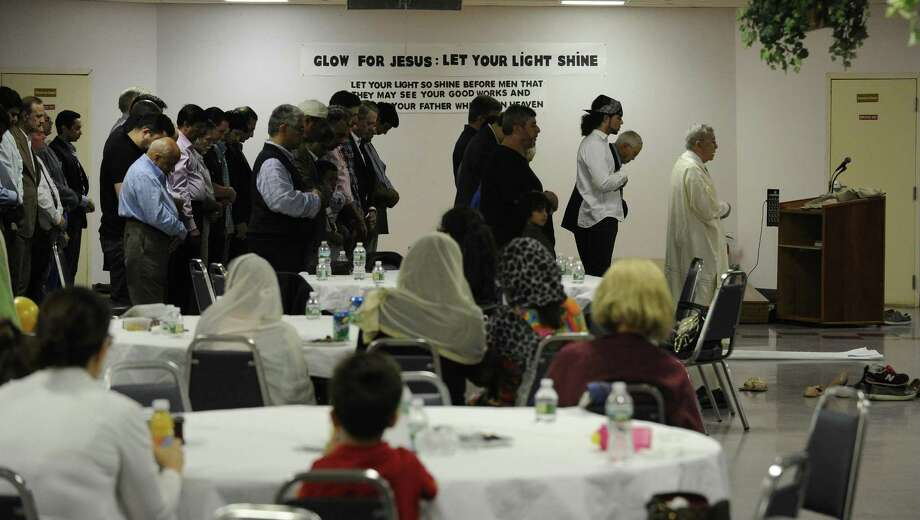 About 200 Muslims gathered last year for the annual Interfaith Council of Southwestern Connecticut Iftar, which breaks the fast at the end of Ramadan. Photo: Matthew Brown / Hearst Connecticut Media / Stamford Advocate