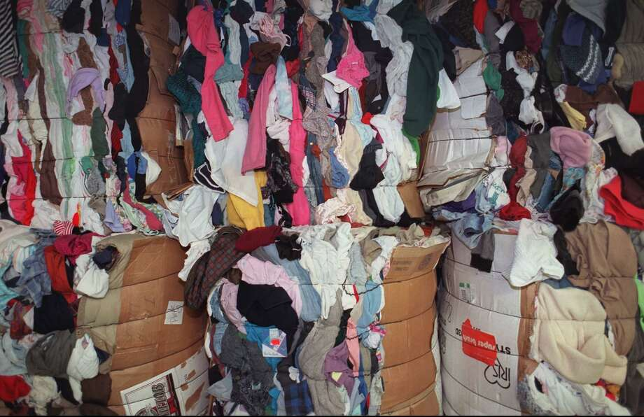 File photo of textiles to be recycled Photo: EMILE WAMSTEKER / ST / AP