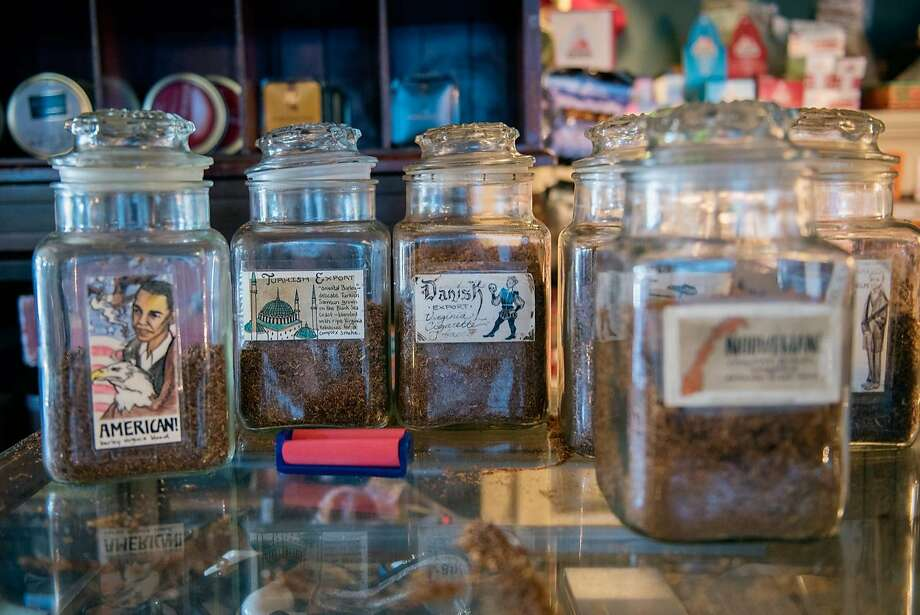 Tobacco jars at Schmidt's Pub in Albany. Photo: Rosa Furneaux / Special To The Chronicle