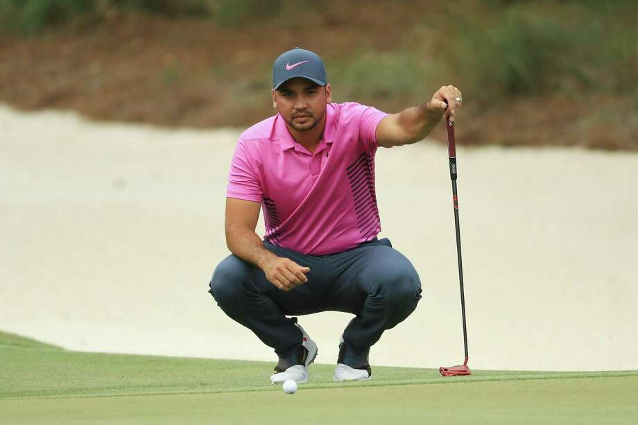 Jason Day lines up a putt on Sunday at The Players Championship in Ponte Vedra Beach, Fla. Photo: Mike Ehrmann / Getty Images / 2018 Getty Images