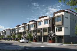 The Palisades is the Lennar Corporation�s new development of three-bedroom townhouses in the San Francisco Shipyard.