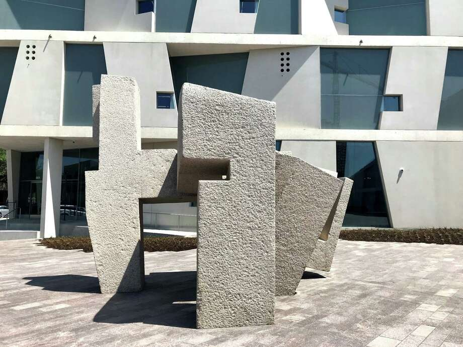 """Chillida's """"Song of Strength"""" helped in part to inspire Steven Holl as he designed the new Glassell School of Art. Photo: Molly Glentzer, Houston Chronicle"""