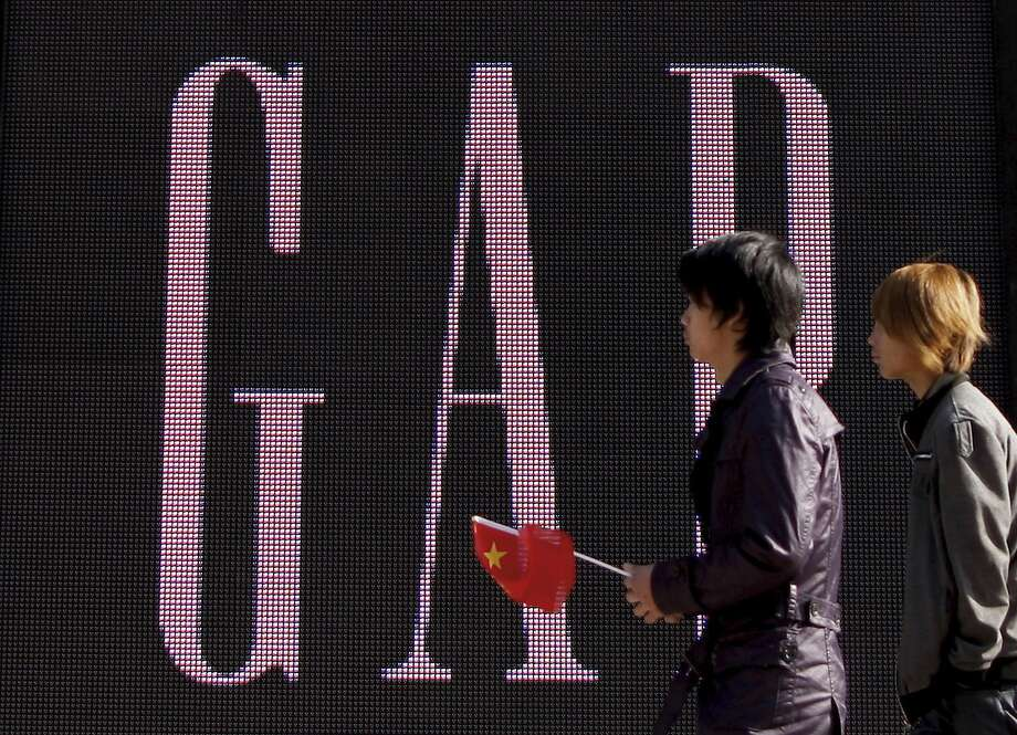 """GAP opened its flagship store in Beijing in 2010. The San Francisco retailer has apologized for selling T-shirts with what it says was an """"erroneous"""" map of China. Photo: Andy Wong / AP 2010"""