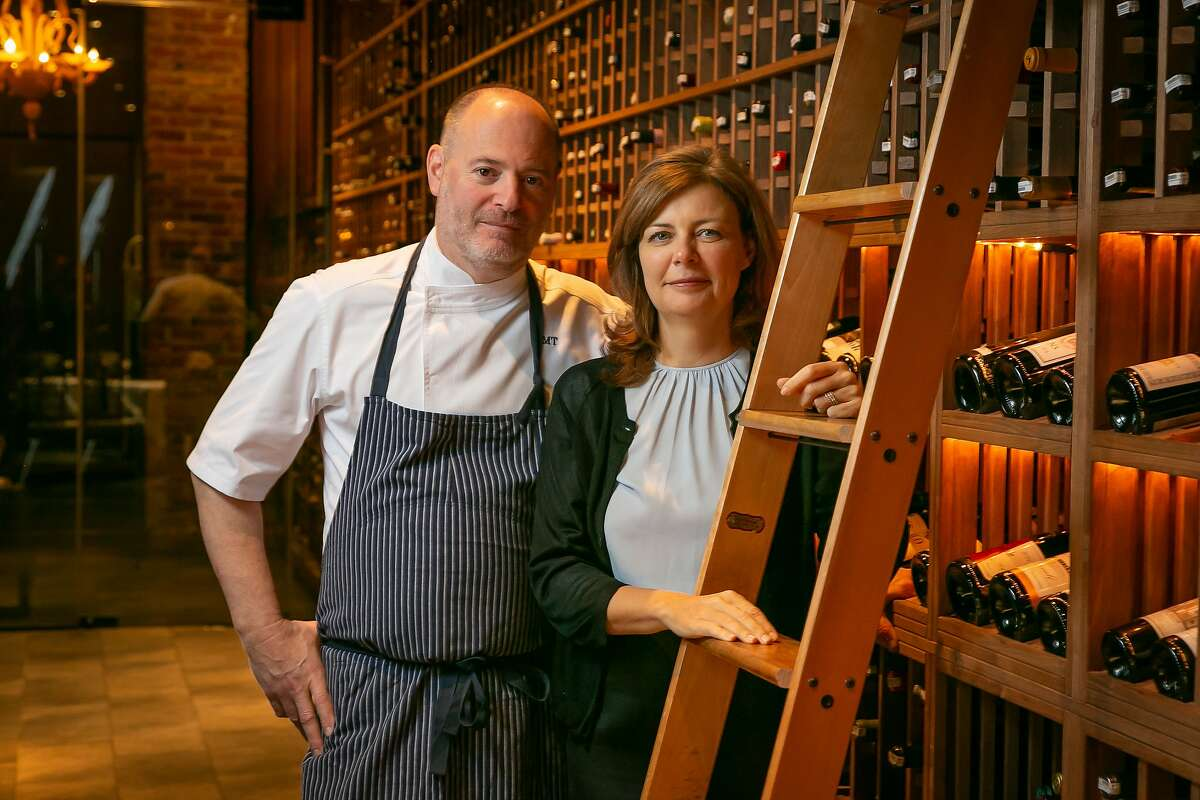 Owners Michael and Lindsay Tusk of Quince in San Francisco, Calif. are seen on on May 2nd, 2018.
