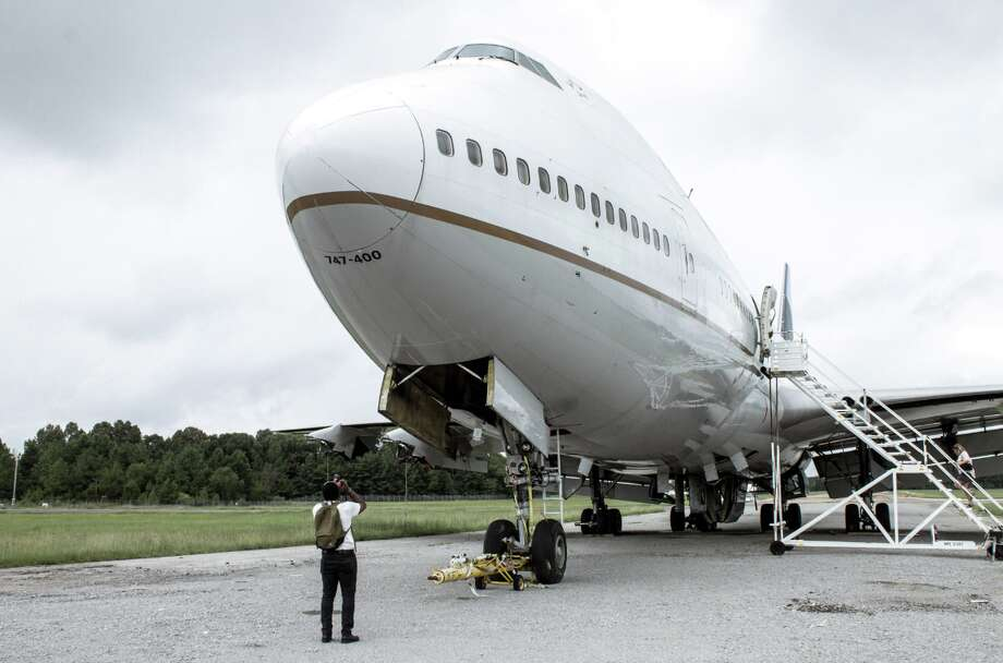 A United 747 at the Universal Asset Management airplane disassembly facility in Tupelo, Mississippi Photo: Universal Asset Management