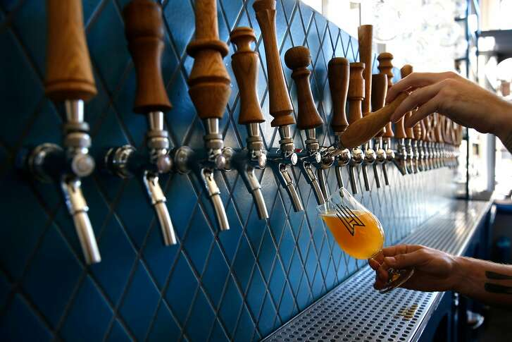 Twenty eight draft beers to choose from at Wursthall Restaurant & Bierhaus in San Mateo, Ca. as seen on Wed. May 9, 2018.