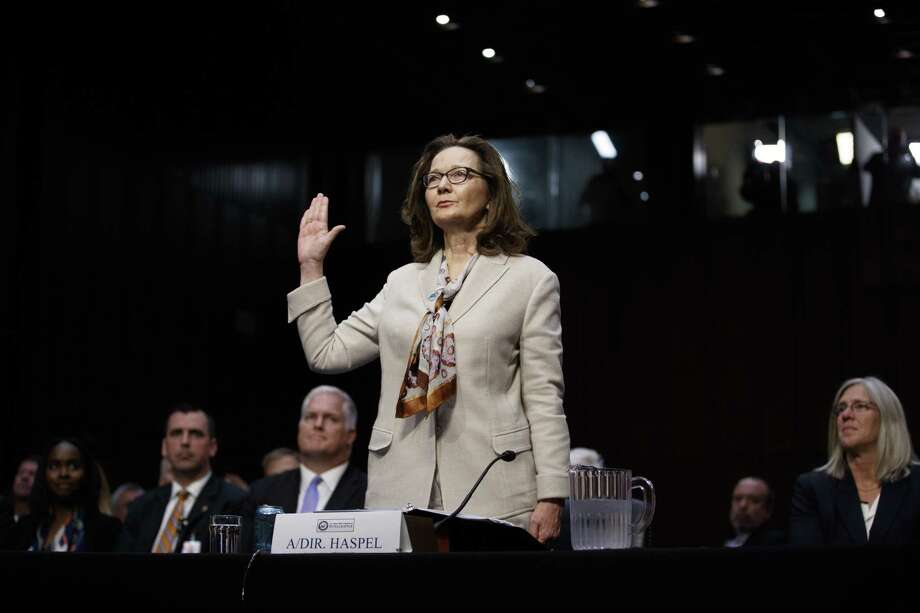 Gina Haspel, the nominee to lead the CIA, is sworn in for testimony before Senate Intelligence Committee. A reader says she was asked a question during the hearing that should not have been asked. Photo: TOM BRENNER /NYT / NYTNS