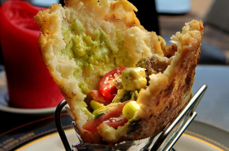 The Chicken Arepa at Mr. Pollo restaurant in San Francisco, Calif.,  is seen on Saturday, January 15th,  2011. Photo: John Storey / Special To The Chronicle