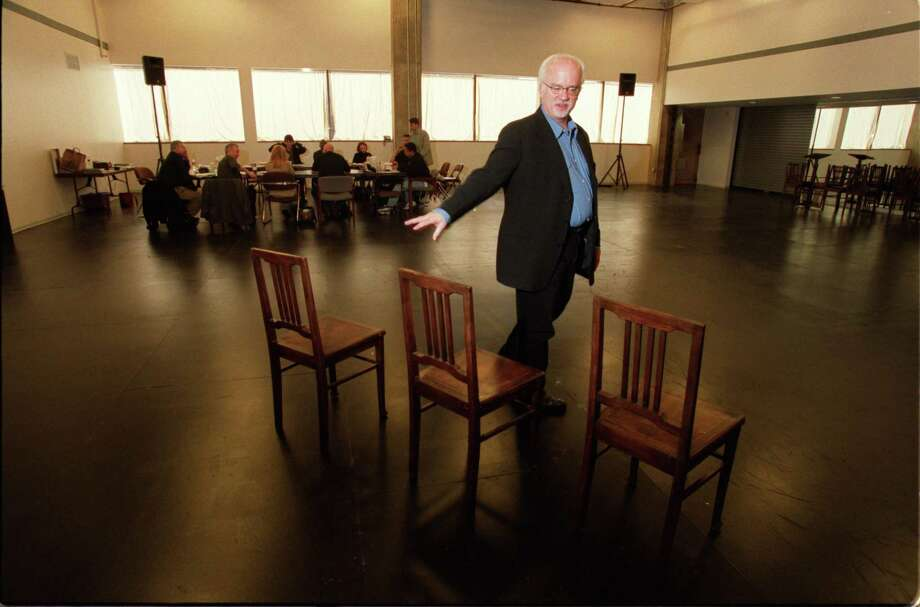 Gregory Boyd, Alley Theater artistic director, plans out a scene in the enlarged rehearsal space at the new Alley Center for Theatre Production in 2002. In January of 2018 Boyd abruptly left the Alley Theatre amidst allegations of abuse. Photo: John Everett, Staff / Houston Chronicle / Houston Chronicle