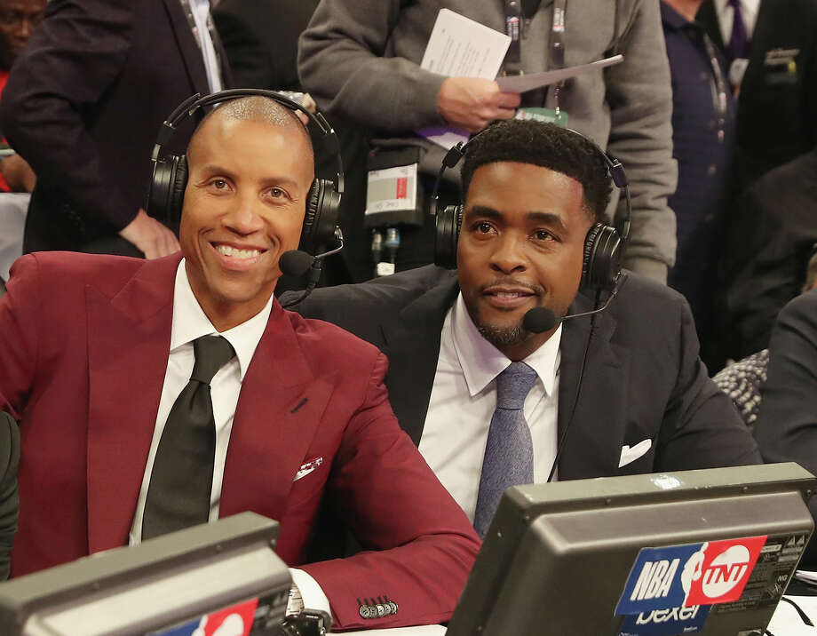 LOS ANGELES, CA - FEBRUARY 18: Reggie Miller and Chris Webber and are seen during NBA All-Star Saturday Night on February 18, 2018 in Los Angeles, California.  (Photo by Bobby Metelus/Getty Images) Photo: Bobby Metelus/Getty Images