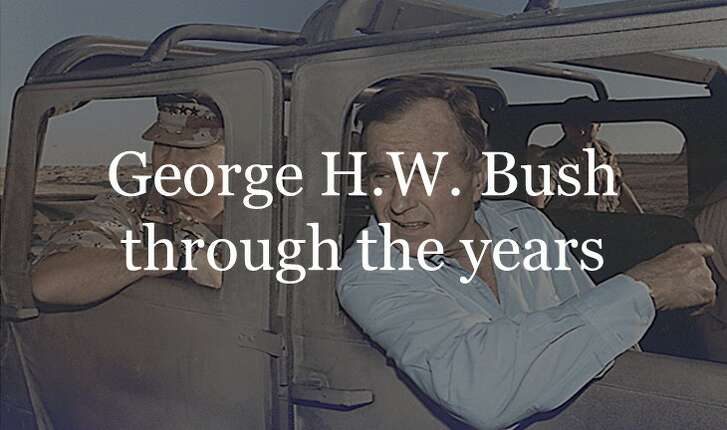 Scroll ahead to see George H.W. Bush through the years.