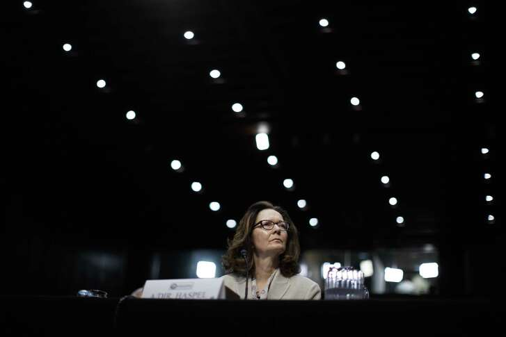 Gina Haspel, the Trump administration's nominee for CIA director, during her confirmation hearing before the Senate Intelligence Committee, on Capitol Hill in Washington, May 9, 2018.
