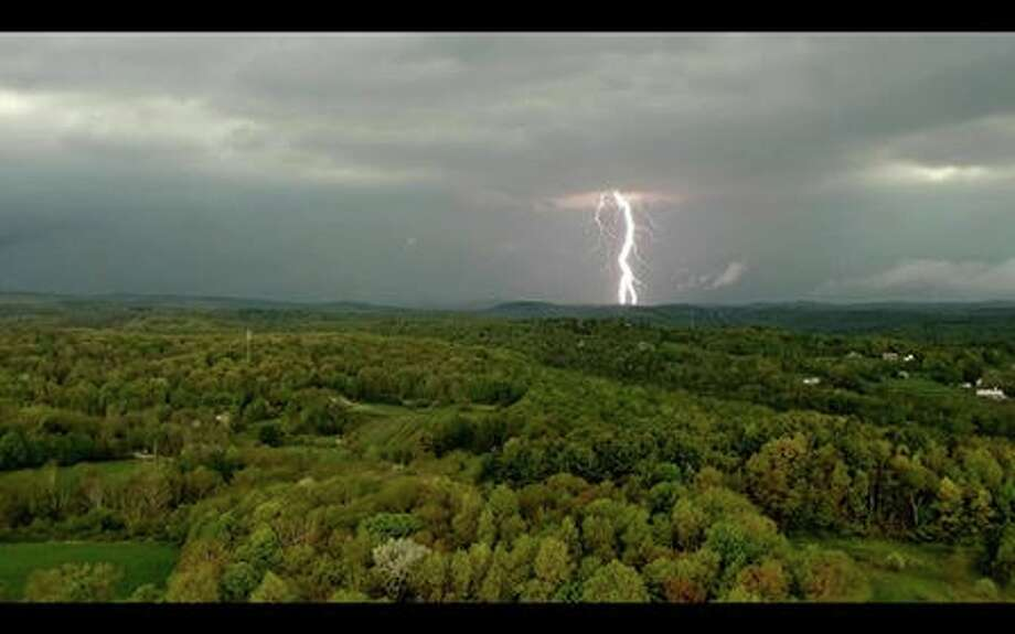 Photo taken from Torrington looking north toward Norfolk as a strong storm hit the area May 15, 2018. Photo: Ken Pleil, Submitted Photo