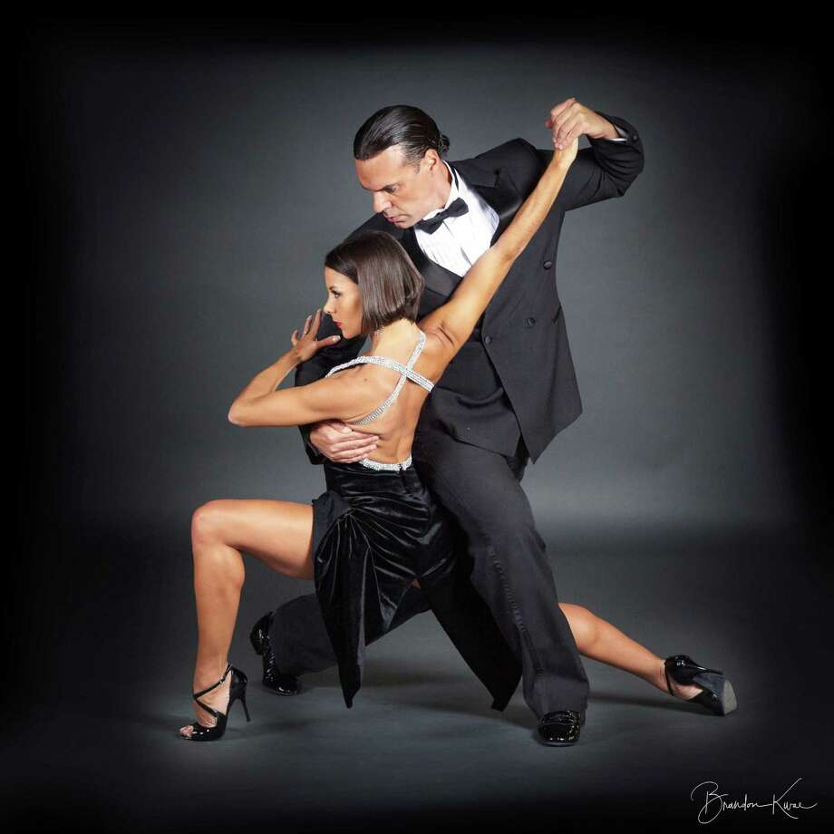 """Junior"" Cervila and Guadalupe Garcia will be in Bridgeport on May 26 to perform five show dances. Photo: Premier Ballroom / Contributed Photo"