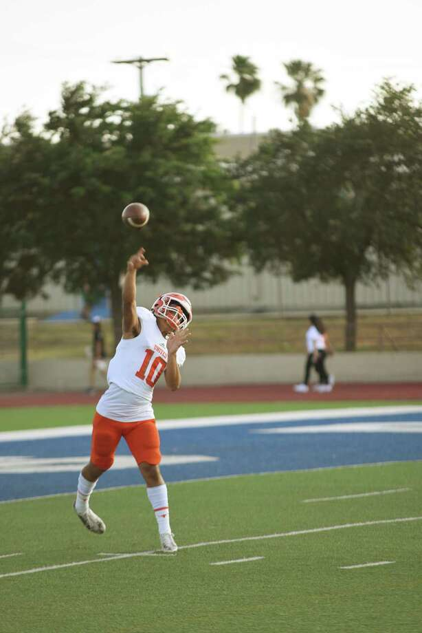 Starting quarterback Wayo Huerta, LMT's reigning Co-Newcomer of the Year, is heading into his junior season for United. Photo: Christian Alejandro Ocampo /Laredo Morning Times / Laredo Morning Times