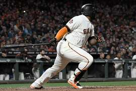 SAN FRANCISCO, CA - MAY 15:  Pablo Sandoval #48 of the San Francisco Giants hits a bases loaded two-run single against the Cincinnati Reds in the bottom of the fourth inning at AT&T Park on May 15, 2018 in San Francisco, California.  (Photo by Thearon W. Henderson/Getty Images)