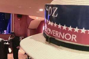 "At the ""Oz and Monte: No Politics. No Parties. Just Solutions Convention"" in Hartford Tuesday night, part of Oz Griebel's independent campaign for governor with Monte Frank as lieutenant governor candidate."