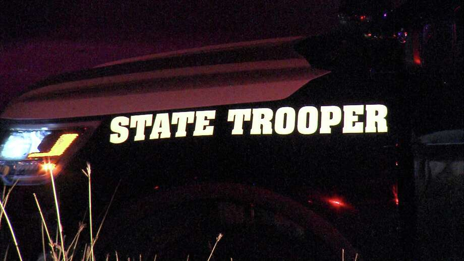 A DPS trooper was injured Saturday, Jan. 11, 2019, when a vehicle struck the trooper's parked cruiser on the far Northeast Side. Photo: Ken Branca