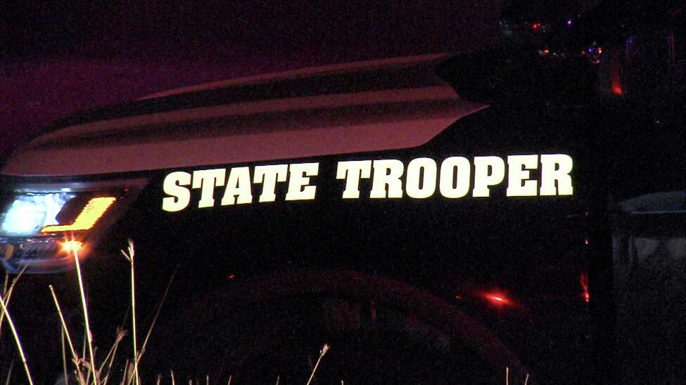 A DPS trooper was injured Saturday, Jan. 11, 2019, when a vehicle struck the trooper's parked cruiser on the far Northeast Side.