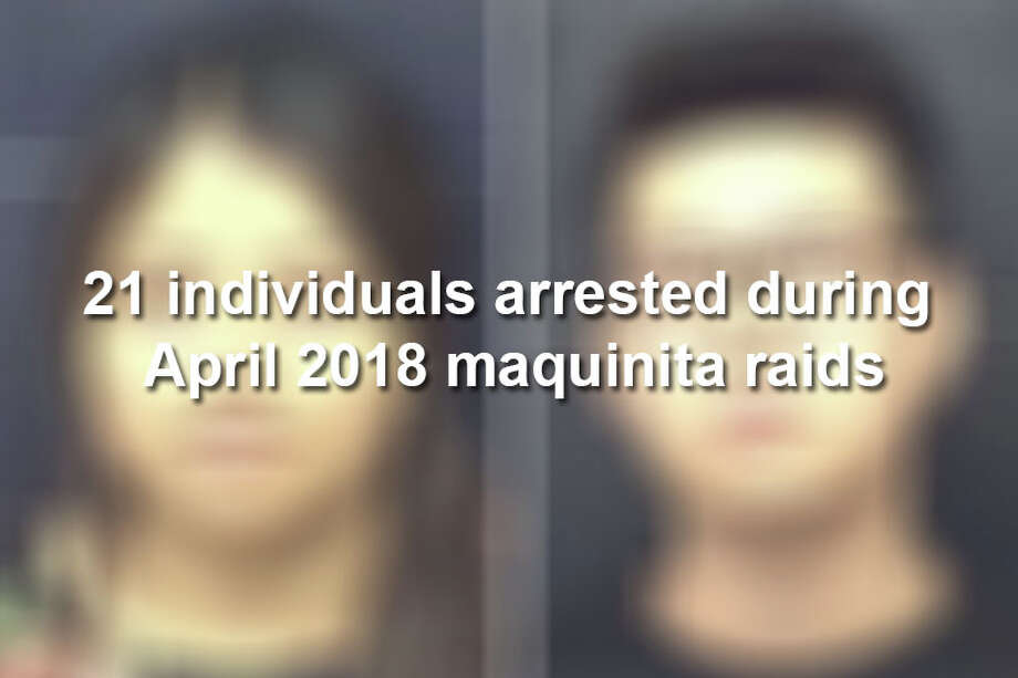 Keep scrolling to see individuals arrested during maquinita raids on April 26. Two individual's mugshots were not released. Photo: Laredo Police Department