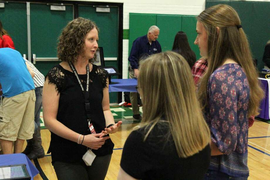Elkton Pigeon Bay-Port hosted its Career and College Fair, Wednesday. Photo: Mike Gallagher/Huron Daily Tribune