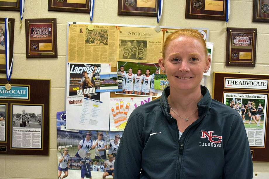 New Canaan High School girls lacrosse coach Kristin Woods. Photo: Michael Horyczun / Contributed Photo