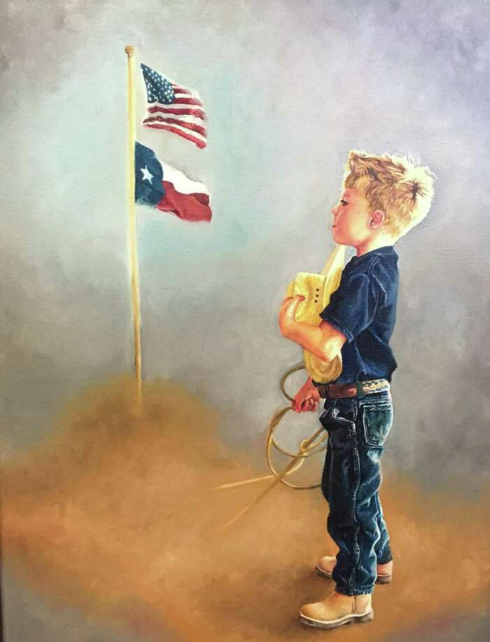 "The painting ""The Anthem"" by Porter High School junior Gracie Evers, which won the 2018 Texas District 8 Congressional Art Competition and will hang at the US Capitol for one year. Photo: Photo Courtesy Congressman Kevin Brady's Office / Photo Courtesy Congressman Kevin Brady's Office"