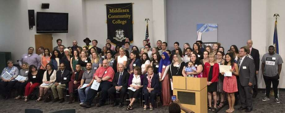 The Middlesex Community College Foundation hosted its annual Scholarship Night ceremony May 2, presenting more than $75,000 in awards to 81 students. Photo: Contributed Photo