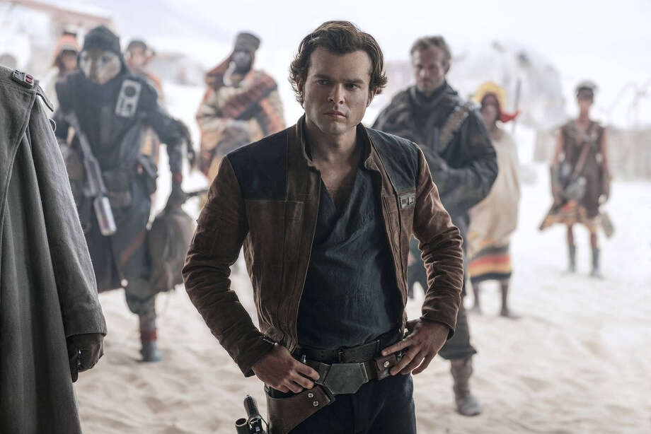 """Alden Ehrenreich as Han Solo in """"Solo: A Star Wars Story,"""" which opens May 25. Photo: Jonathan Olley - Lucasfilm Ltd. / The Washington Post"""