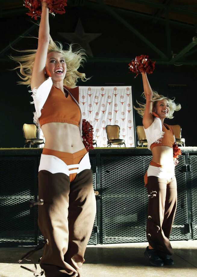 Texas cheer groups get the ceremonies started as The University of Texas Exes bring the Texas Tour to Sunset Station on May 15, 2018. Photo: Tom Reel, Staff / San Antonio Express-News / 2017 SAN ANTONIO EXPRESS-NEWS