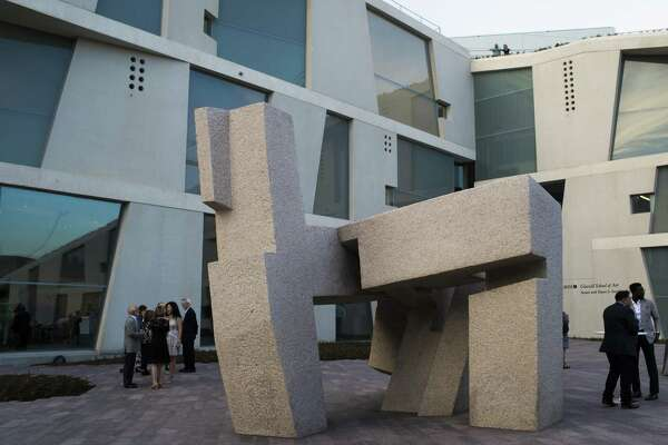 "Eduardo Chillidas sculpture titled ""Song of Strength"" has been relocated to the Glassell School of Art."