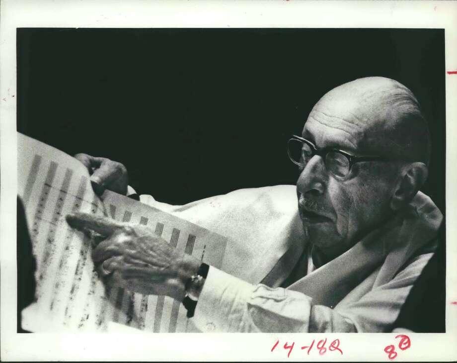 Igor Stravinsky Photo: CBS (Columbia Broadcasting System) / Houston Chronicle