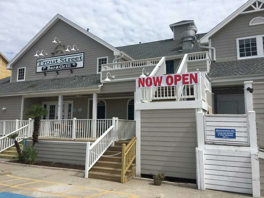 The Trout Street Bar and Grill, a popular spot in Port Aransas, reopened in April after Hurricane Harvey decimated the establishment. Photo: Courtesy Trout Street Bar And Grill