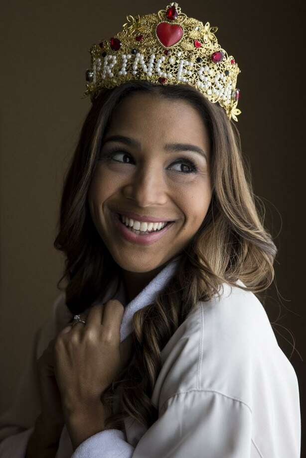 Leah Cast models a custom crown from the Vintage Contessa's showroom Photo: Michael Ciaglo, Houston Chronicle / Houston Chronicle / Michael Ciaglo