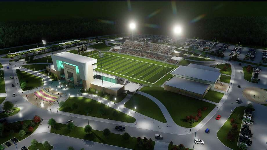 Spring ISD is preparing to build a new stadium on a 117-acre parcel of land off Cypresswood Drive south of Burchett Elementary School. Photo: Spring ISD / Spring ISD