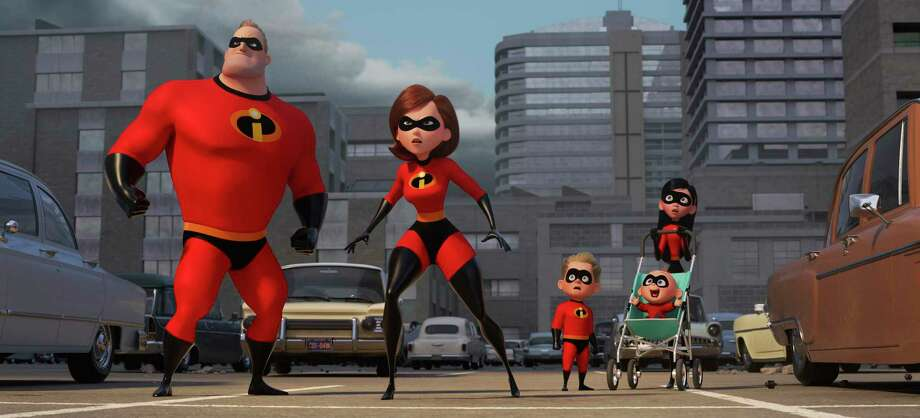 """""""Incredibles 2"""" will be screened at Discovery Green on Saturday. Photo: AP / ©2017 Disney•Pixar. All Rights Reserved."""