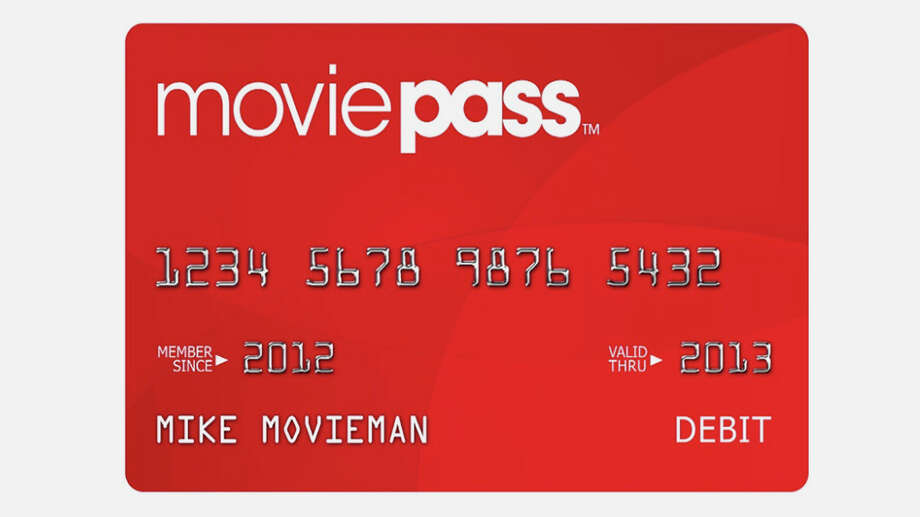 A mock-up of a MoviePass card.