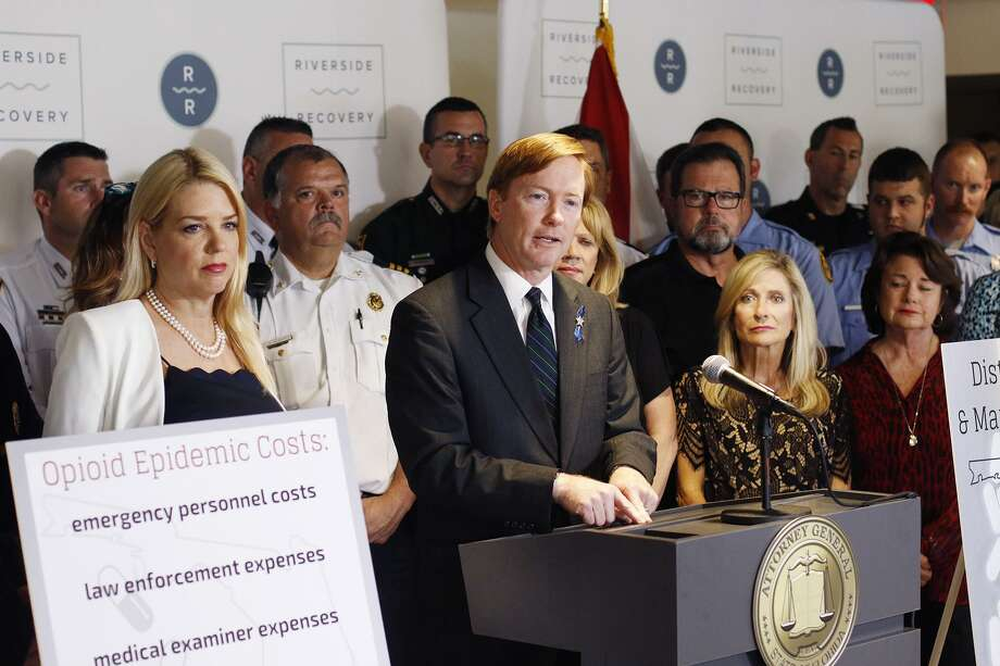 Florida Commissioner of Agriculture Adam Putnam talks to the press about the opioid epidemic during a press conference in Tampa, Fla., on Tuesday. Photo: Associated Press / Tampa Bay Times