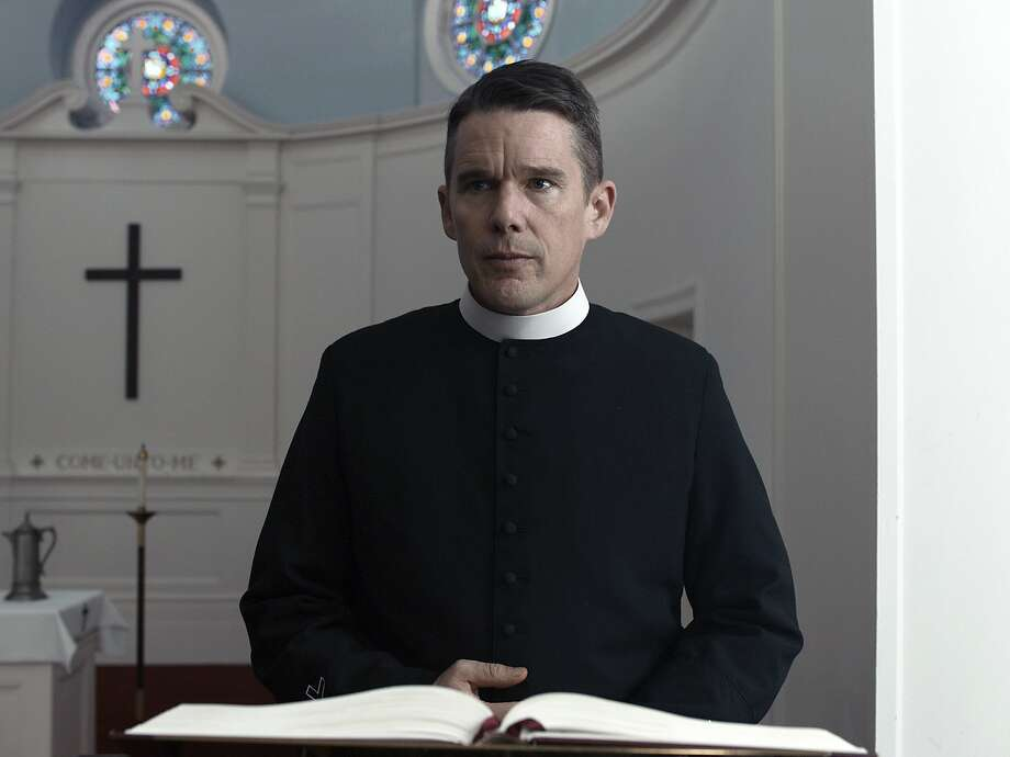 "This image released by A24 shows Ethan Hawke in a scene from ""First Reformed."" (A24 via AP) Photo: Associated Press"