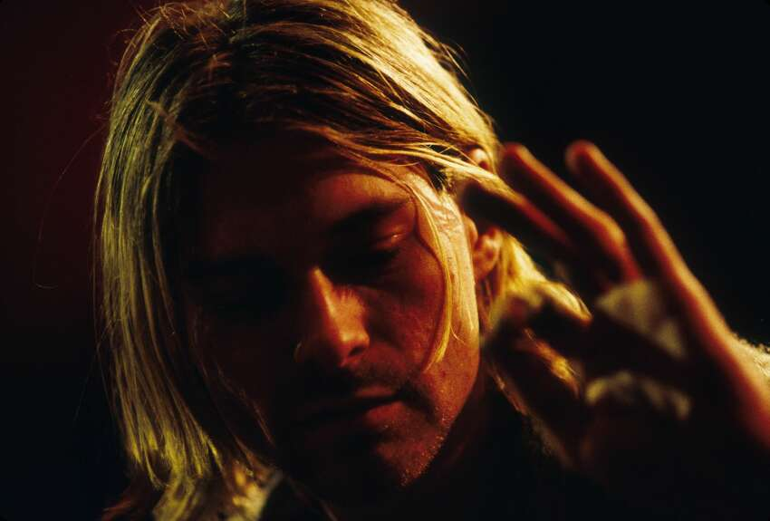 Kurt Cobain of Nirvana during the taping of MTV Unplugged at Sony Studios in New York City, 11/18/93. Photo by Frank Micelotta. *** Special Rates Apply *** Call for Rates ***