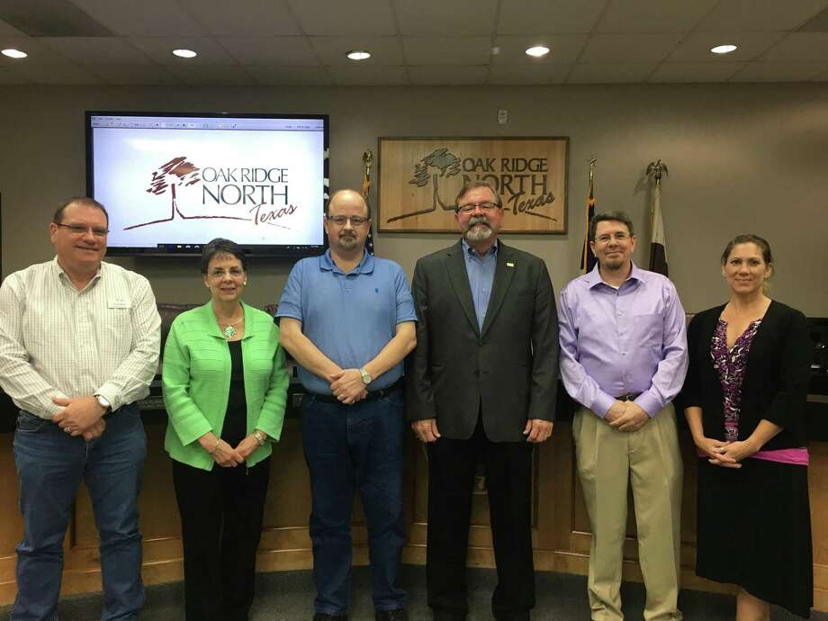 The 2018 Oak Ridge North City Council: Paul Bond, Frances Planchard, Clint McClaren, Mayor Jim Kuykendall, Alex Jones and Michelle Cassio. Photo: Sarah McClure / City Of Oak Ridge North