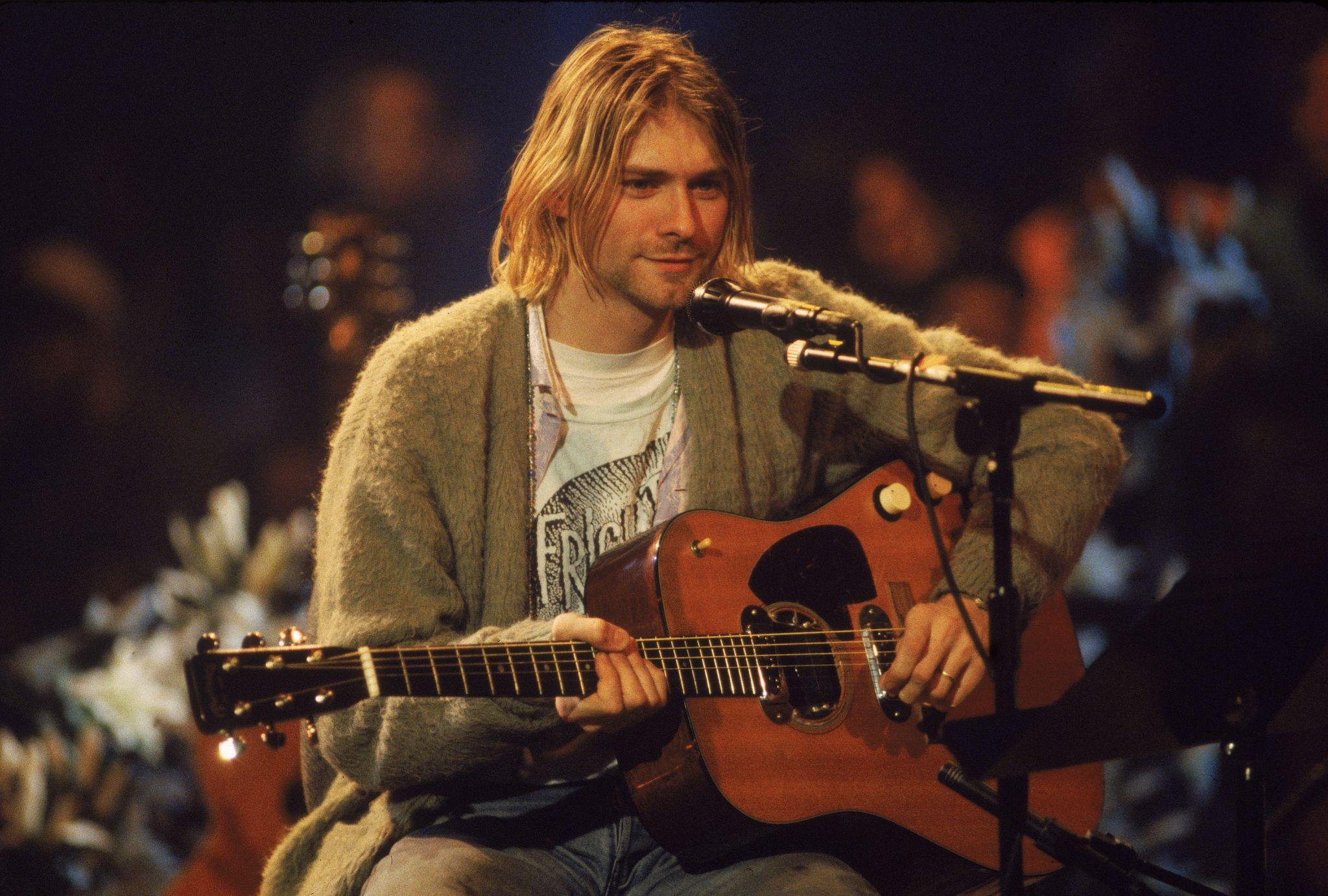 Kurt Cobain's 'Unplugged' sweater highlights auction of rock treasures