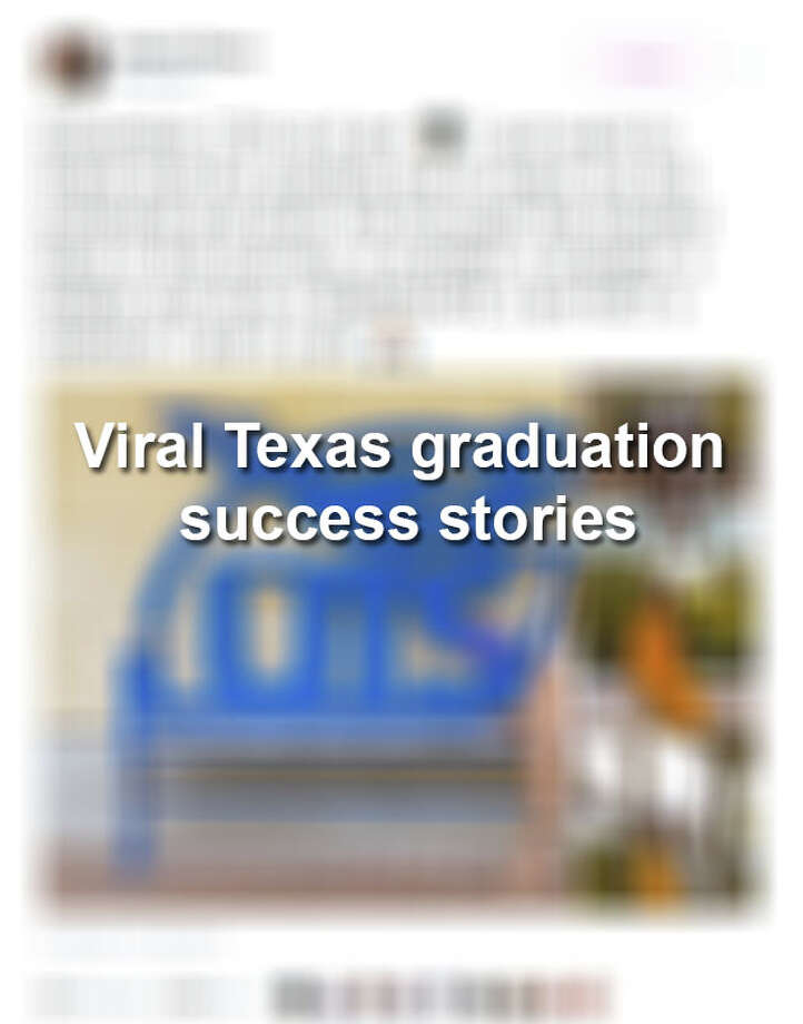 Keep scrolling to see graduation success stories from Texas that have gone viral. Photo: MySA