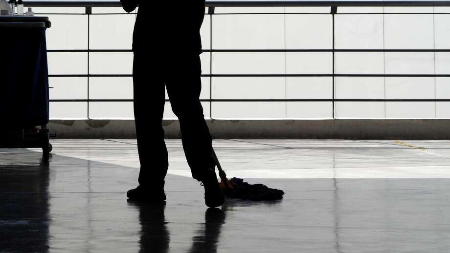 Floor technician (custodial staff) Estimated U.S. Salary: $11.71/hourEstimated Bay Area Salary: $16.07/hour Photo: Ppengcreative/Getty Images/iStockphoto