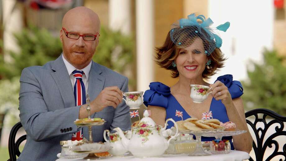 "The most playful coverage happens on HBO, when Will Ferrell and Molly Shannon revive their crazy alter egos, Cord Hosenbeck, left, and Tish Cattigan, for the HBO special ""The Royal Wedding Live with Cord and Tish!"" Photo: HBO /Associated Press / HBO"