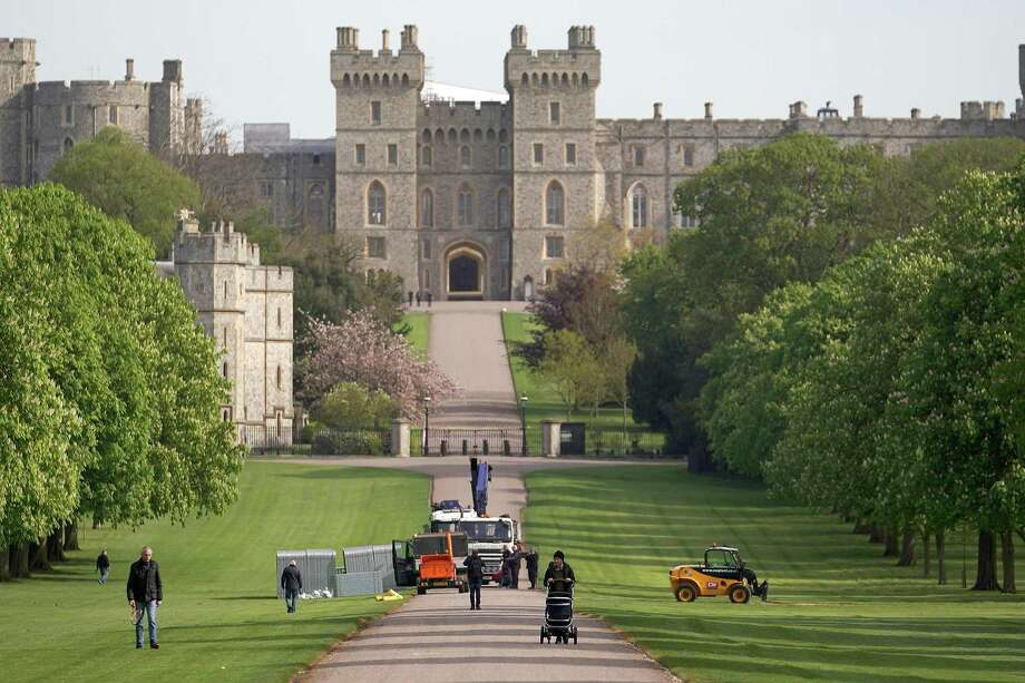 A media stand is erected half way along The Long Walk at Windsor Castle as it prepares for the wedding of Prince Harry and his fiance US actress Meghan Markle. May 3, 2018 in Windsor, England. St George's Chapel at Windsor Castle will host the wedding of Britain's Prince Harry and US actress Meghan Markle on May 19. The town, which gives its name to the Royal Family, is ready for the event and the expected tens of thousands of royalists. Photo: Christopher Furlong /Getty Images / 2018 Getty Images