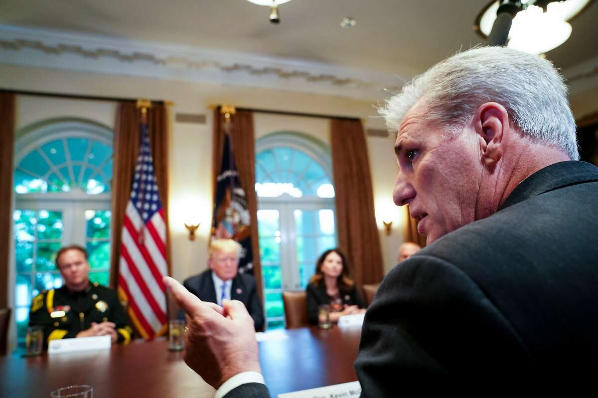 House Majority Leader Kevin McCarthy, R-Bakersfield, blasts sanctuary laws at a roundtable with President Trump.