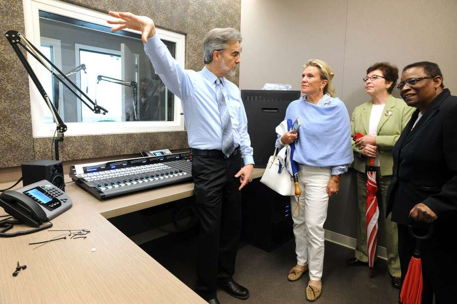 Tom Kuser, Program Director for WSHU radio, leads a tour of the station's new building and studios on the Sacred Heart University campus in Fairfield, Conn. May 16, 2018. Photo: Ned Gerard / Hearst Connecticut Media / Connecticut Post