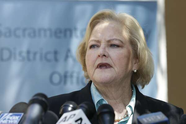 FILE -- In this Wednesday, April 25, 2018, file photo Alameda County District Attorney Nancy O' Malley discusses the arrest of Golden State Killer suspect, Joseph James DeAngelo during a news conference Sacramento, Calif. Billionaire liberal philanthropist George Soros has contributed more than $130,000 in funds to her opponent, civil-rights attorney Pamela Price. Through the California Justice & Public Safety Political Action Committee, Soros' plunked $1.5 million into several California district attorney's campaigns including the races in Alameda, Contra Costa, Sacramento and San Diego counties.(AP Photo/Rich Pedroncelli, file)