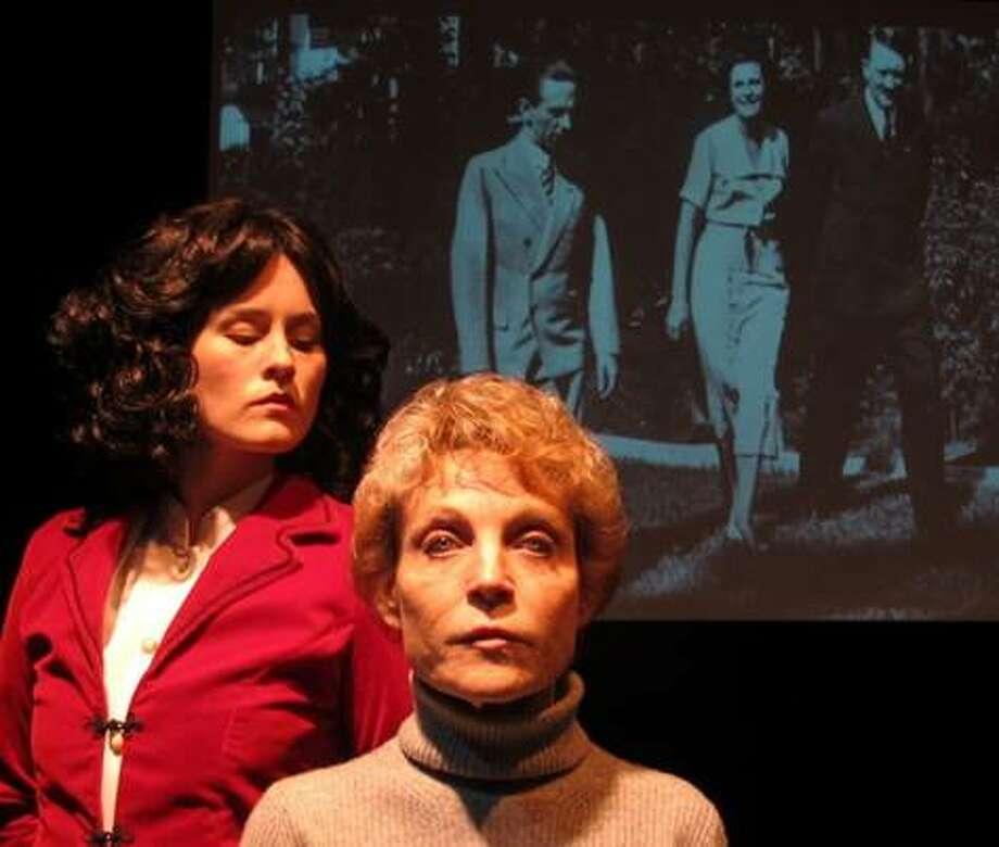 "Olivia Howell (Leni) and Roxanne Fay (Helene) in Sarah Greenman's ""Leni."""